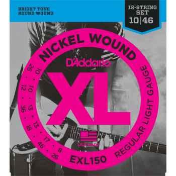D´addario EXL150 - XL 12 String Regular Light para Guitarra Eléctrica